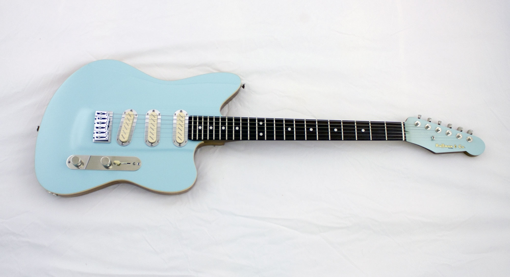 The Tuxedo, a custom guitar from Huffman and Co. Custom Guitars
