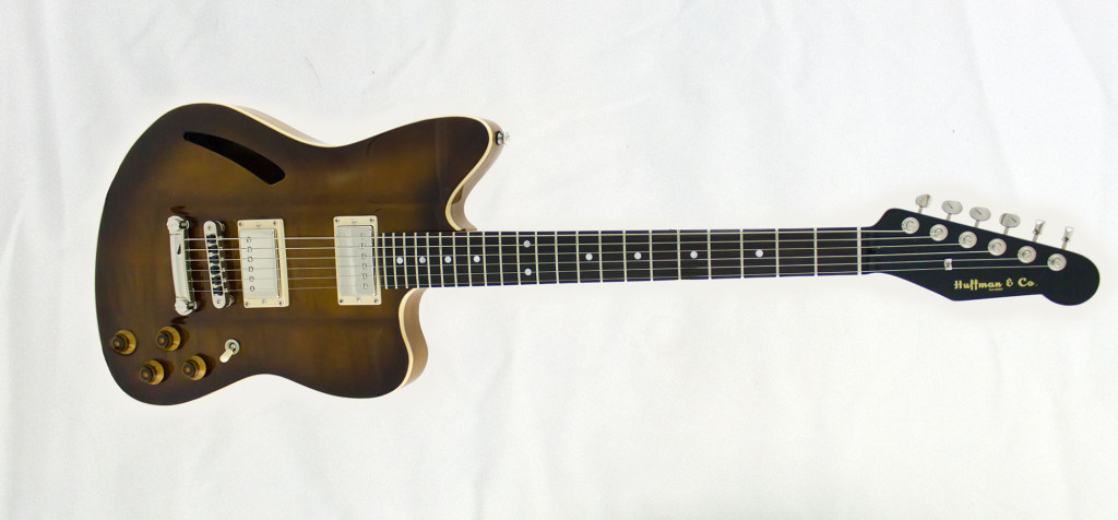 The Tuxedo Burst, another of our beautiful boutique guitars